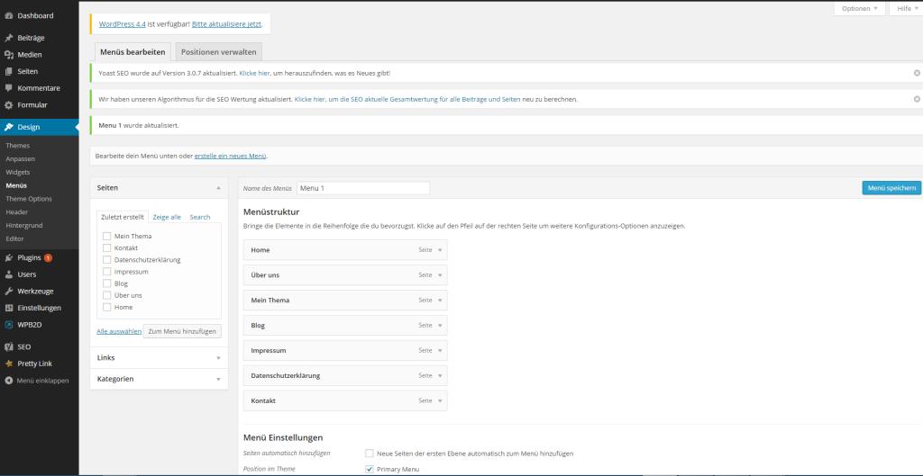 Wie erstellt man eine Website - Menüstruktur