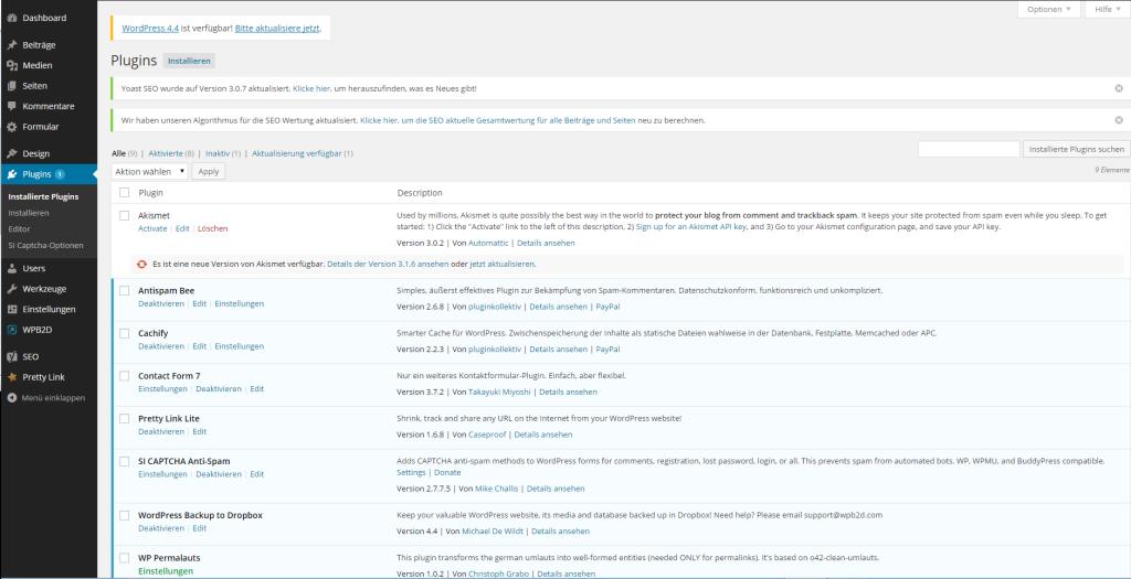 Wie erstellt man eine Website - Übersicht Plugins