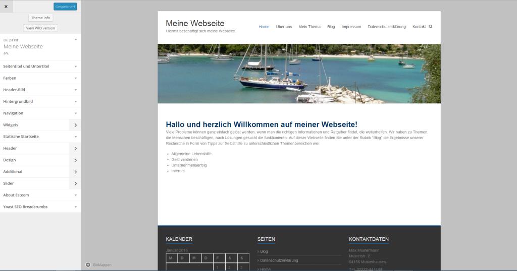 Wie erstellt man eine Website - Startseite