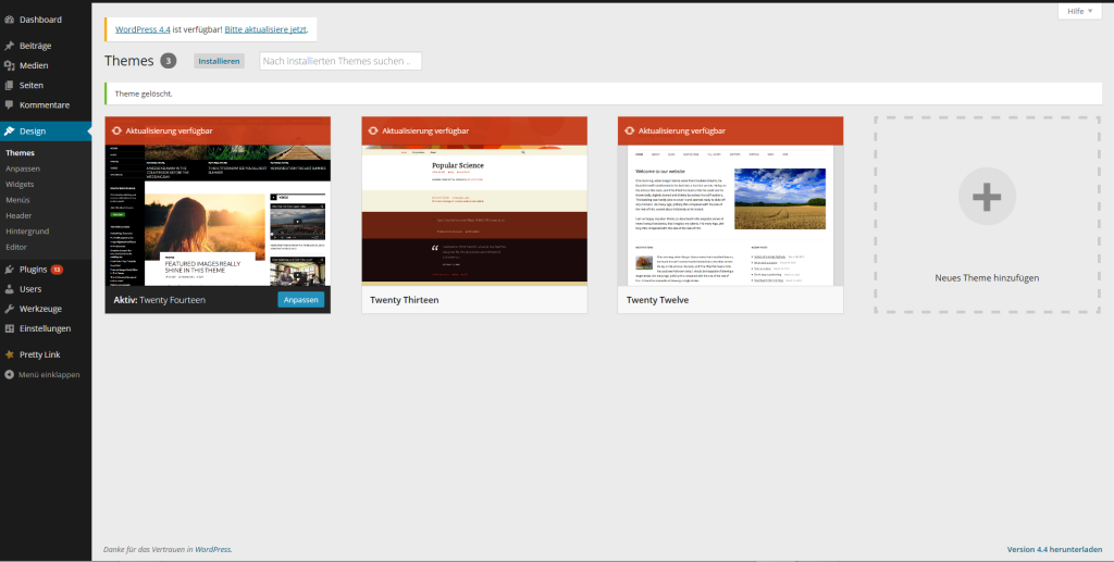 Wie erstellt man eine Website - Theme auswählen