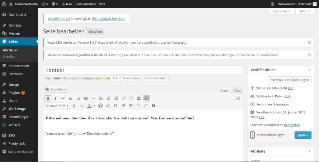 Wie erstellt man eine Website- Kontaktformular